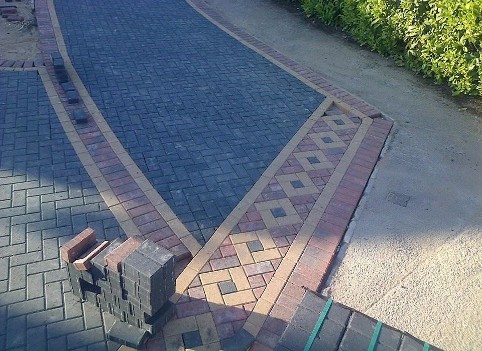 Block Driveway Install