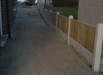 Driveway Fence Install