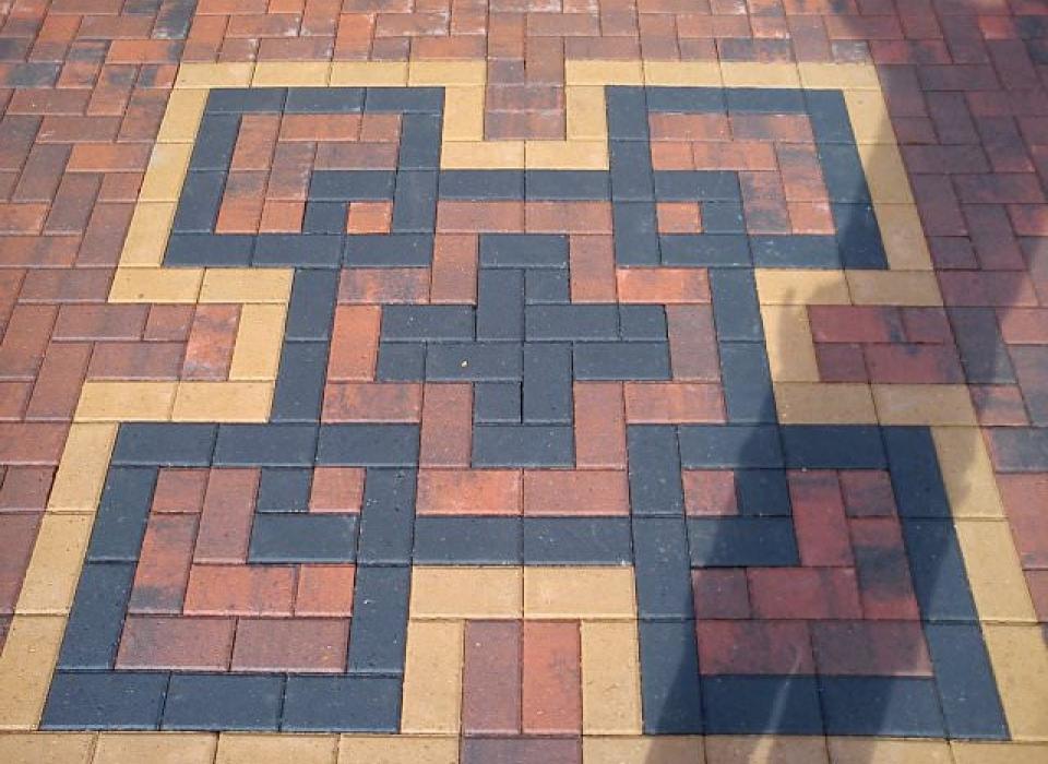 Patterned Block Paving Installation