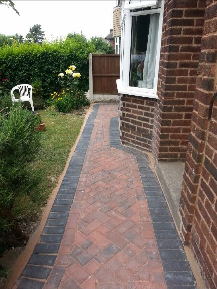 Block Paving Path After