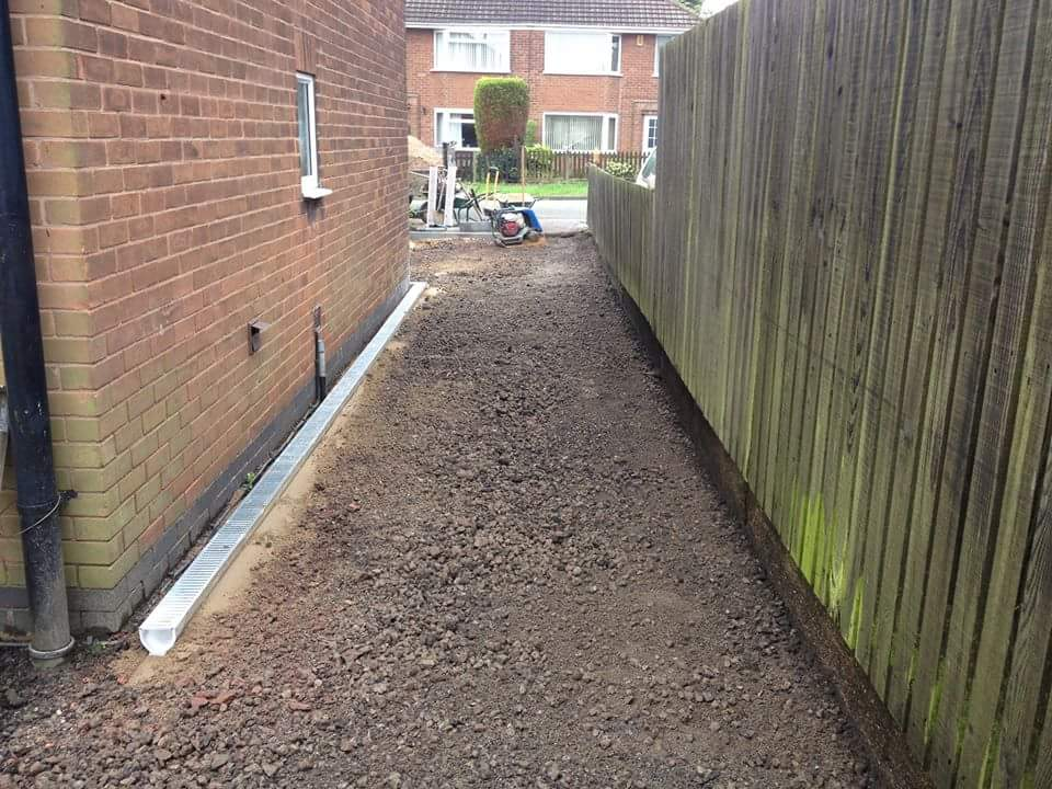 Driveway Being Installed