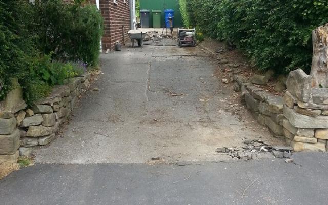 Before Concrete Driveway Installation